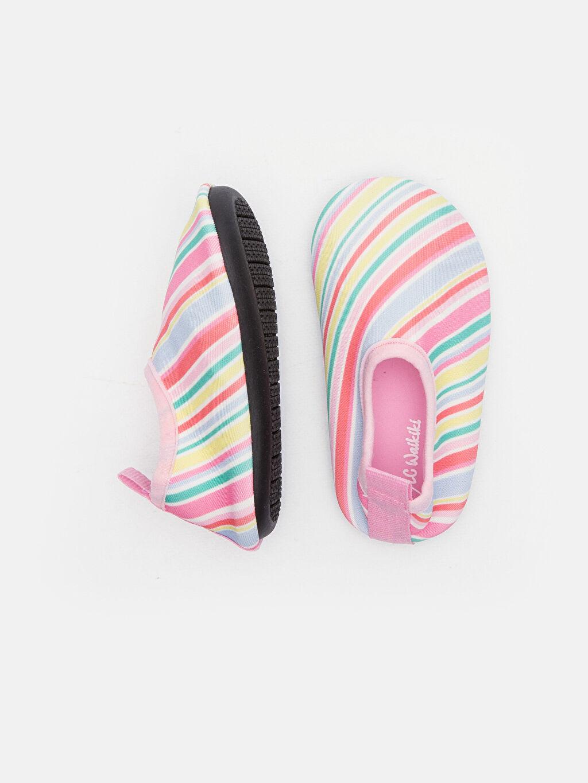 Kısa Deniz Ayakkabısı Kumaş Astar Kısa(0-2cm) Diğer Kız Bebek Rengarenk Şeritli Deniz Ayakkabısı