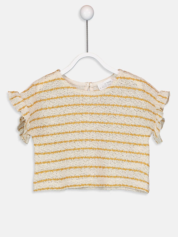 Sarı Kız Bebek Çizgili Tişört 9SV860Z1 LC Waikiki
