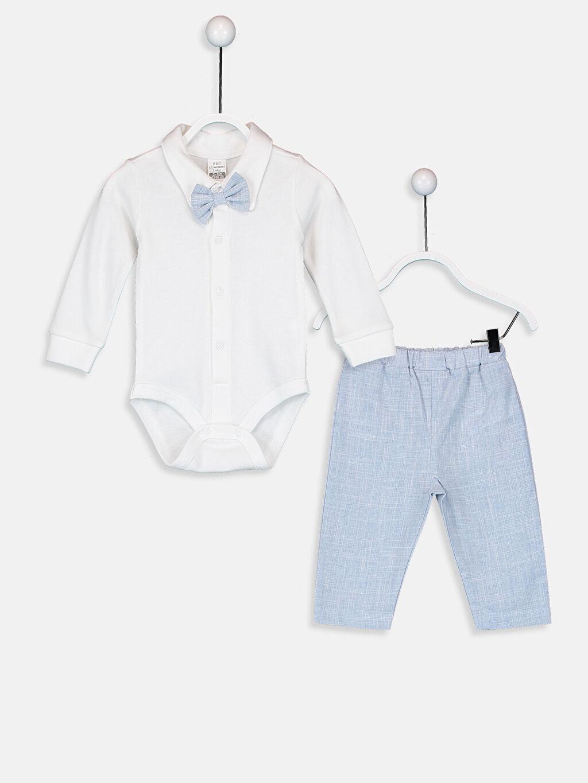 %100 Pamuk %100 Pamuk %100 Pamuk %100 Pamuk %100 Pamuk Poplin Papyon Takım Gömlek Erkek Bebek Pantolon Yelek ve Çıtçıtlı Body