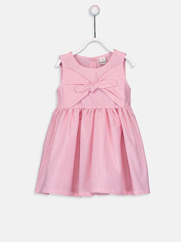 Pembe Kız Bebek Poplin Elbise 9SA382Z1 LC Waikiki