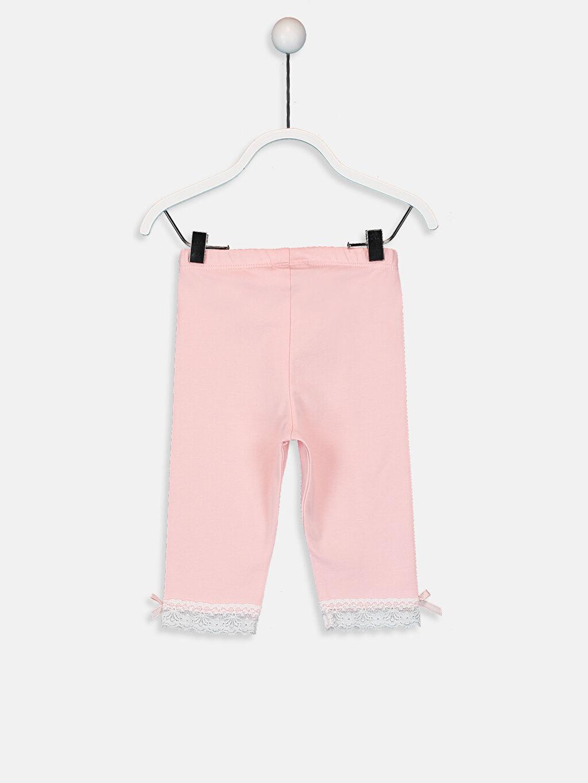 %94 Pamuk %6 Elastan Normal Bel Düz Penye Tayt Standart Kız Bebek Pamuklu Tayt