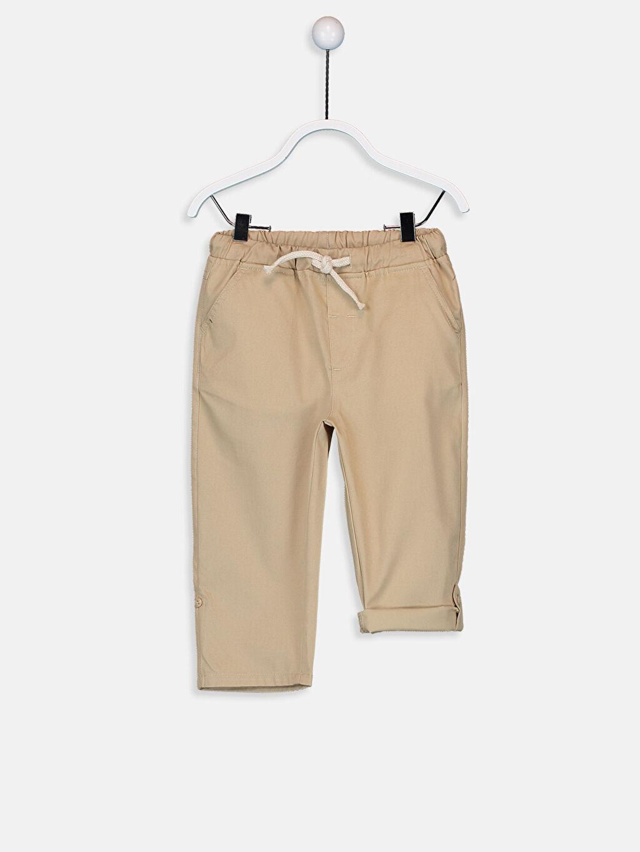 %100 Pamuk %100 Pamuk Pantolon Düz Gabardin Aksesuarsız Standart Astarsız Beş Cep Erkek Bebek Gabardin Pantolon