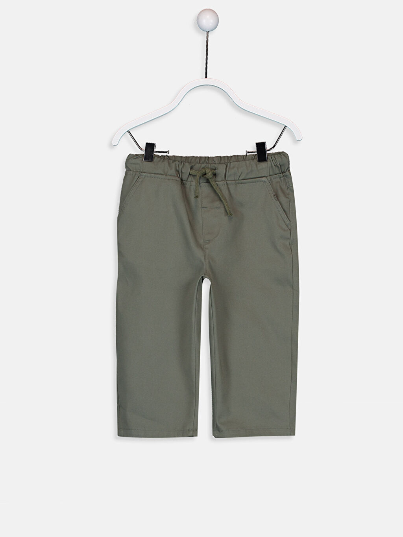 Haki Erkek Bebek İnce Gabardin Pantolon 9SA688Z1 LC Waikiki