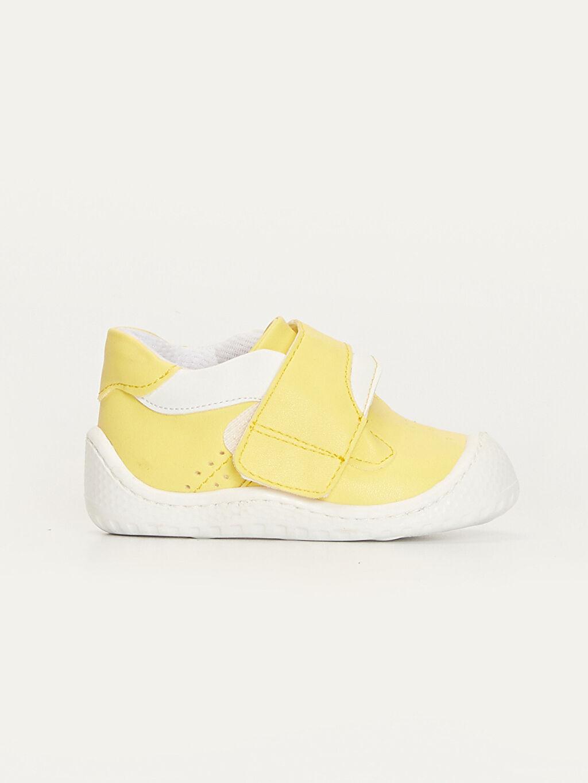 Sarı Erkek Bebek İlk Adım Cırt Cırtlı Ayakkabı 9SB007Z1 LC Waikiki