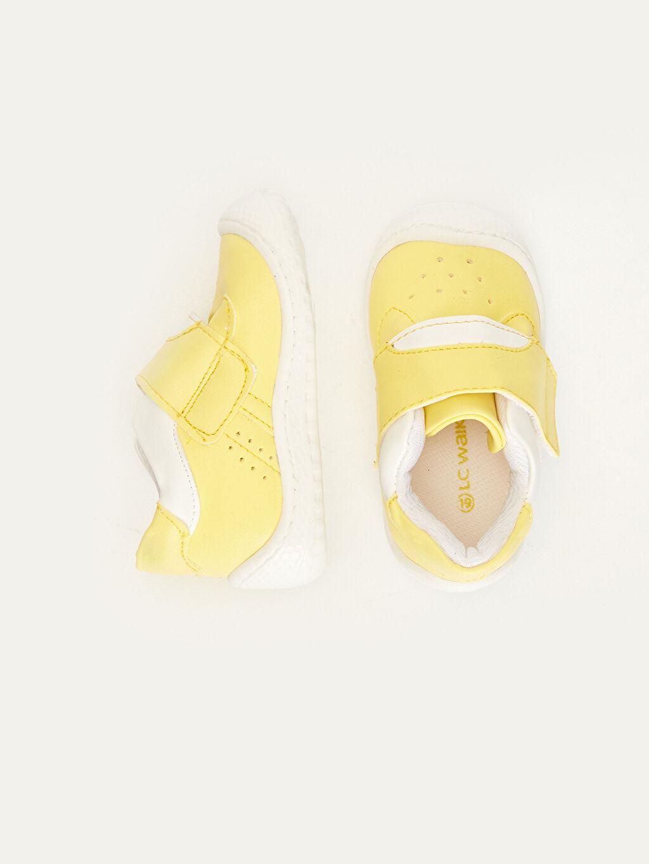 Diğer malzeme (poliüretan) Tekstil malzemeleri Kısa PU Astar Günlük Cırt Cırt İlk Adım Ayakkabısı Erkek Bebek İlk Adım Cırt Cırtlı Ayakkabı