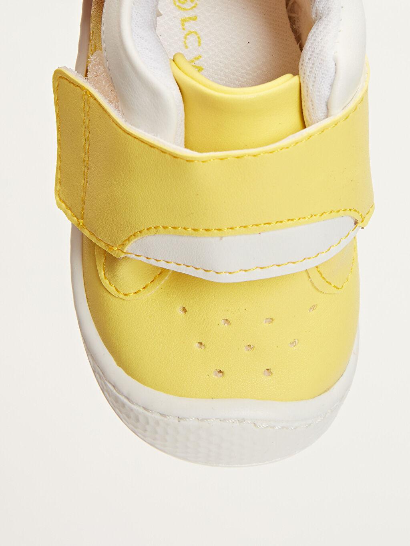 Sarı Erkek Bebek İlk Adım Cırt Cırtlı Ayakkabı