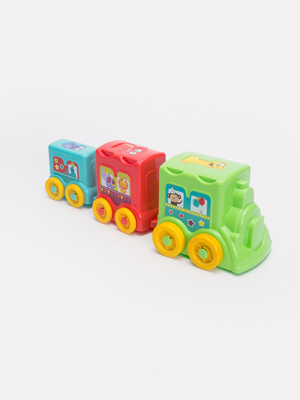 %100 Plastik Oyuncak ve Kırtasiye Eğlenceli Aktivite Treni Oyuncak