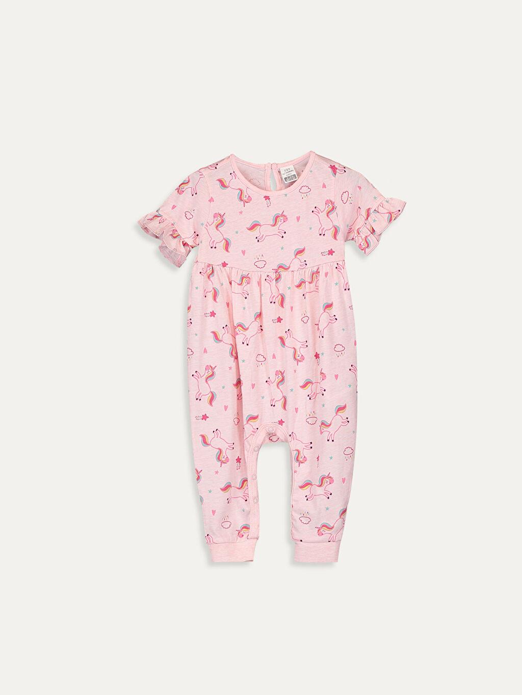 Pembe Kız Bebek Desenli Tulum 9SB061Z1 LC Waikiki