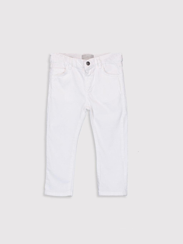 Beyaz Erkek Bebek Gabardin Pantolon 9SB156Z1 LC Waikiki