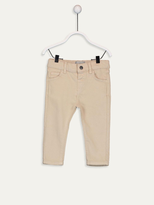 Bej Erkek Bebek Gabardin Pantolon 9SB156Z1 LC Waikiki