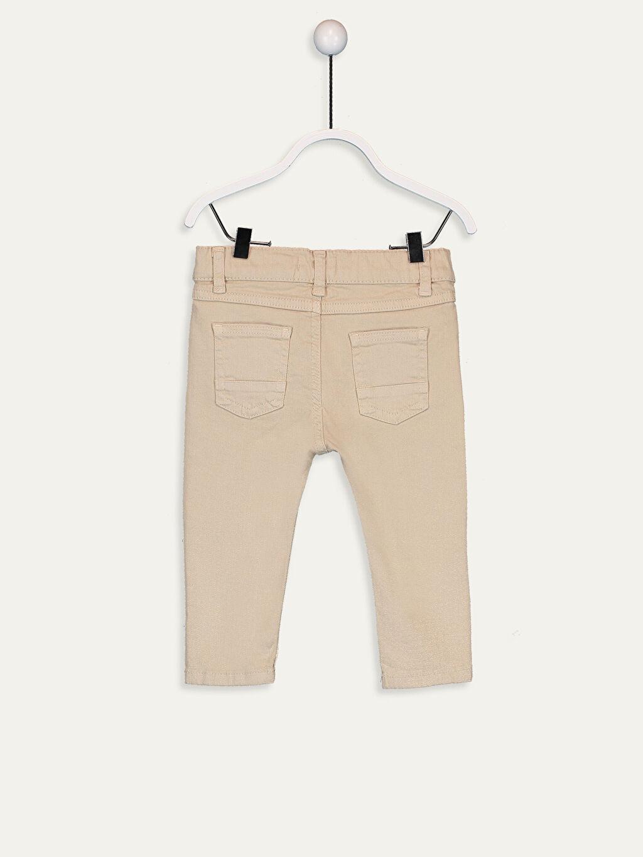 %97 Pamuk %3 Elastan Gabardin Aksesuarsız Standart Astarsız Beş Cep Pantolon Düz Erkek Bebek Gabardin Pantolon