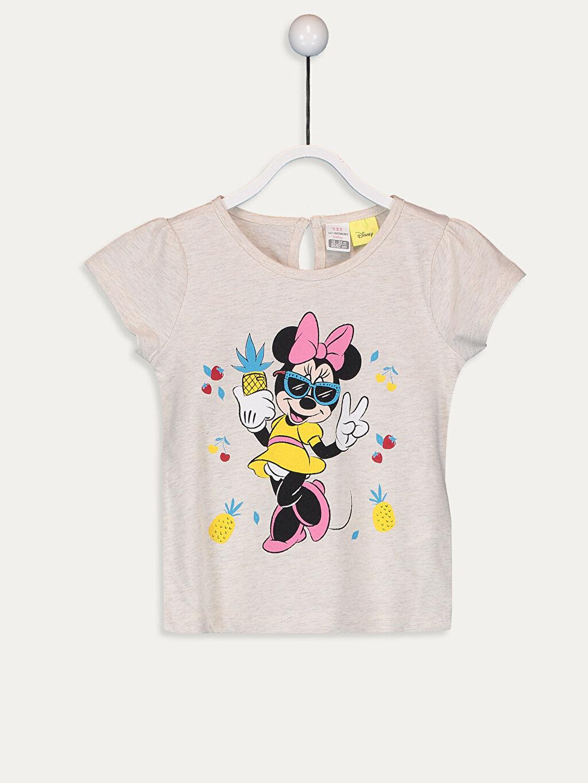 Bej Kız Bebek Minnie Mouse Baskılı Tişört  9SB188Z1 LC Waikiki