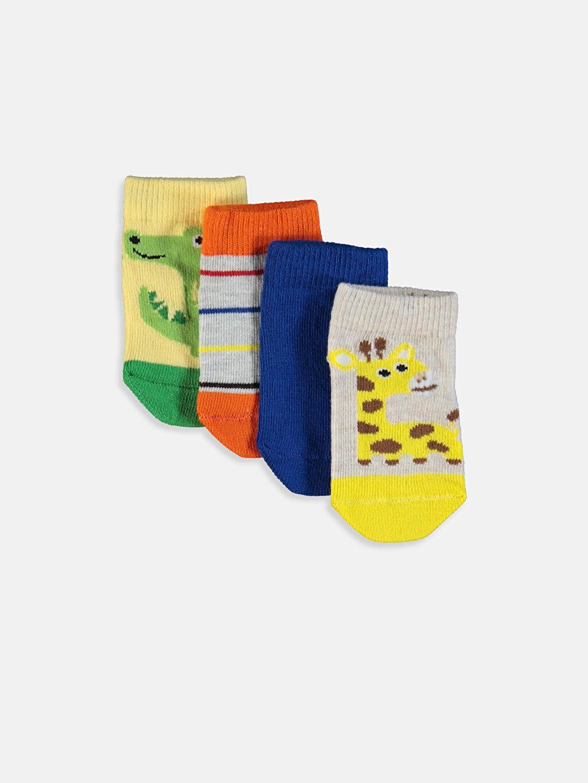 Çok Renkli Erkek Bebek Patik Çorap 4'lü 9SB204Z1 LC Waikiki