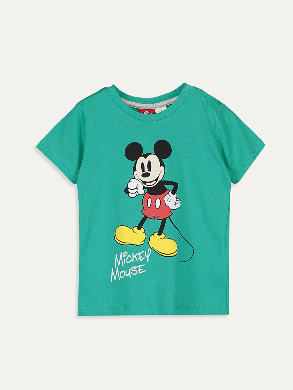 Yeşil Erkek Bebek Mickey Mouse Baskılı Tişört 9SB745Z1 LC Waikiki