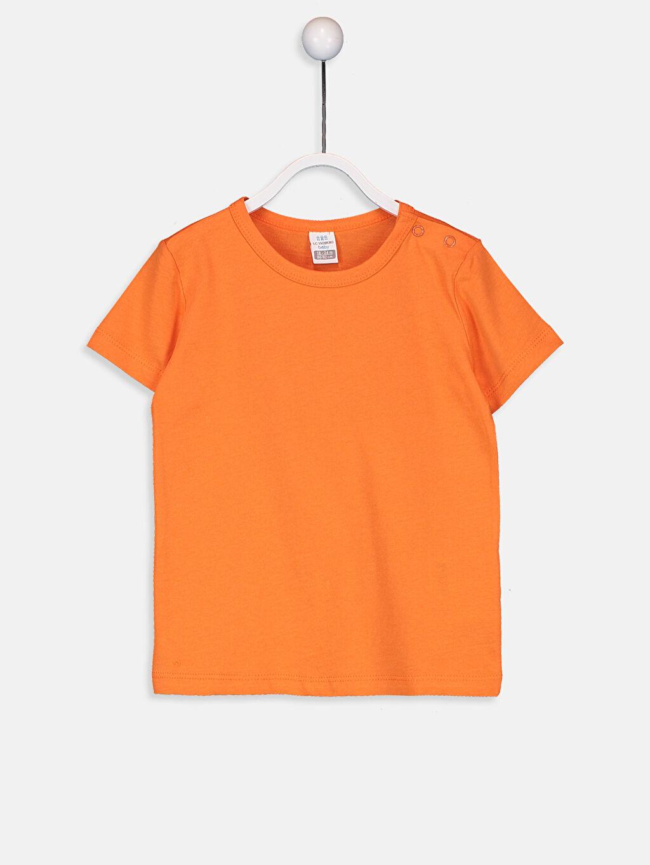 Turuncu Erkek Bebek Pamuklu Basic Tişört 9SB950Z1 LC Waikiki