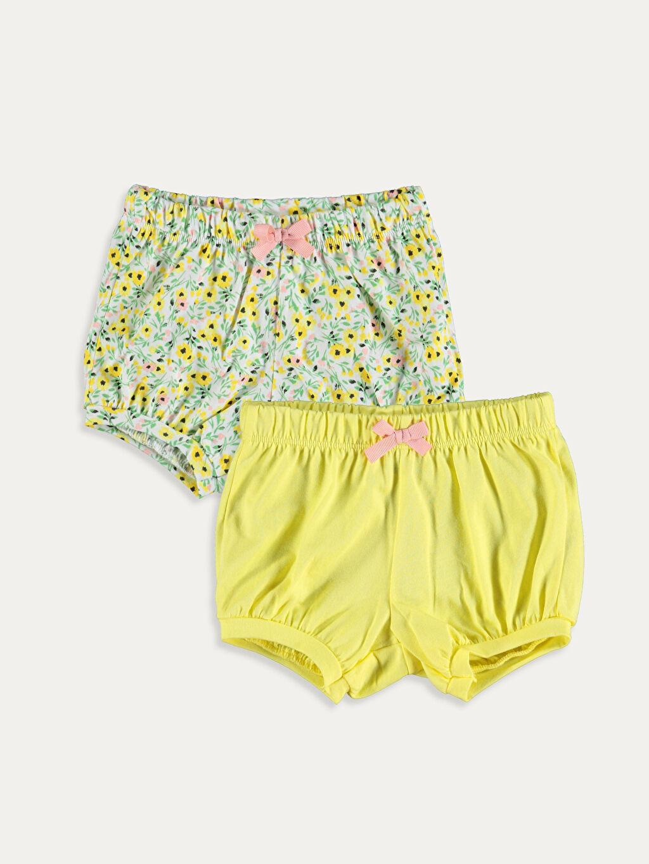Sarı Kız Bebek Şort 2'li 9SC419Z1 LC Waikiki
