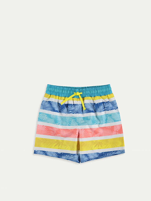 Sarı Erkek Bebek Desenli Yüzme Şort 9SC474Z1 LC Waikiki
