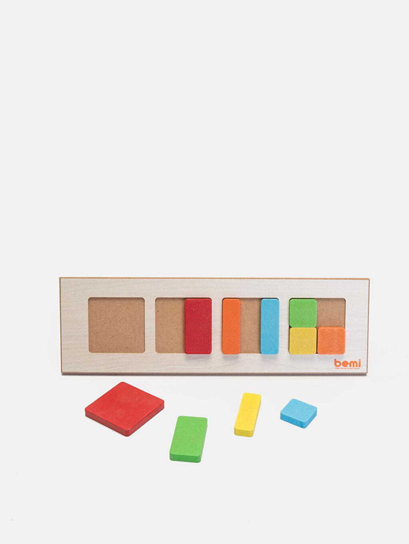 %100 Ahşap Oyuncak ve Kırtasiye Eğitici Oyuncak Blok Puzzle