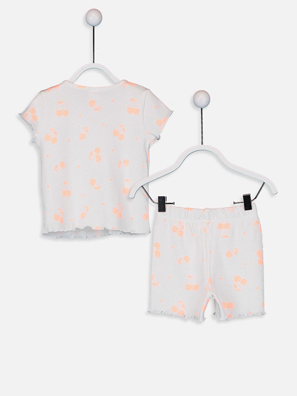 %98 Pamuk %2 Elastan %98 Pamuk %2 Elastan Standart Pijama Takım Ribana Patiksiz Kız Bebek Desenli Pamuklu Pijama Takımı