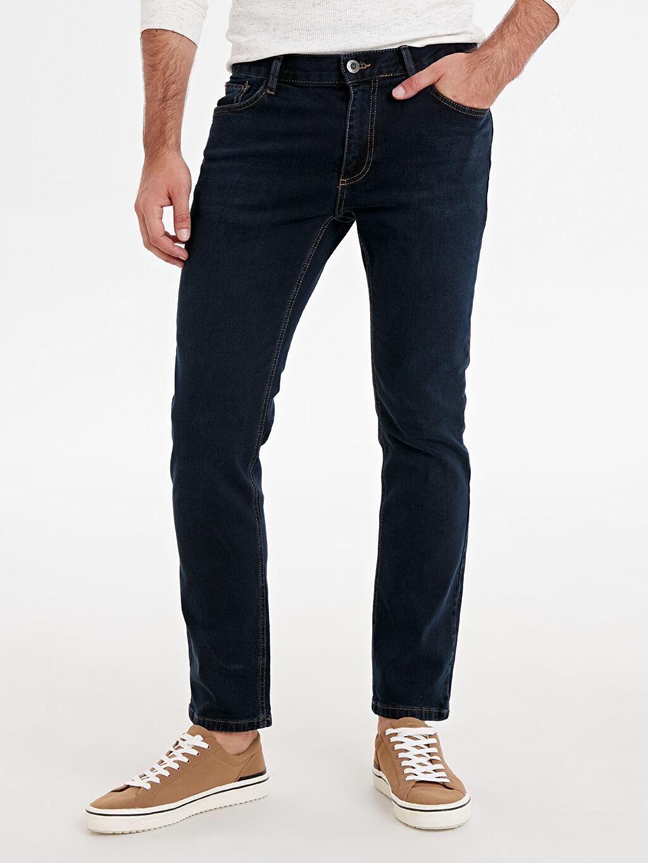 %99 Pamuk %1 Elastan Standart Normal Bel Astarsız Beş Cep Jean 779 Regular Fit Jean Pantolon