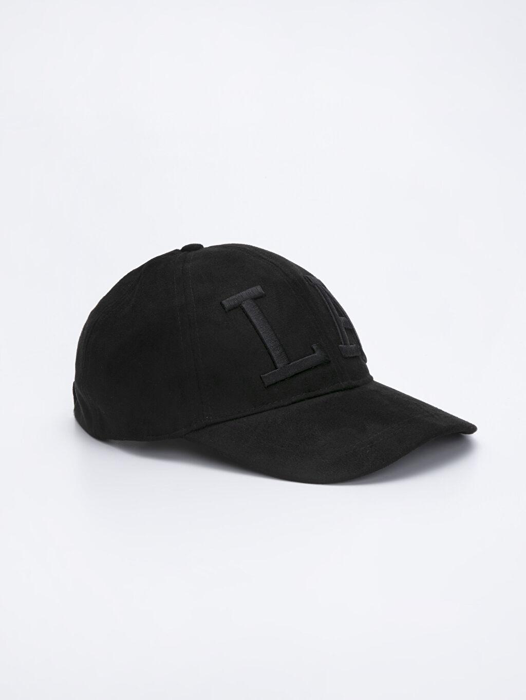 Siyah Nakış İşlemeli Şapka 9W0303Z8 LC Waikiki