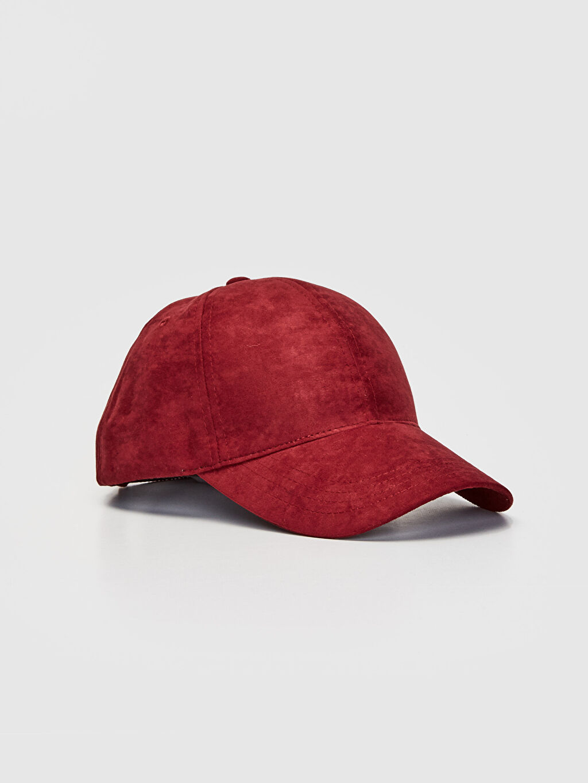Bordo Süet Şapka 9W0305Z8 LC Waikiki