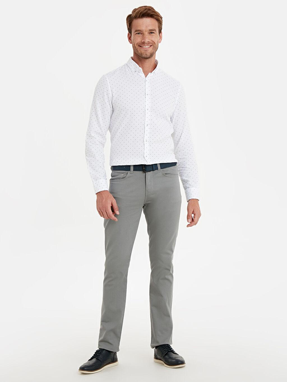 Gri Slim Fit Armürlü Pantolon 9W0630Z8 LC Waikiki