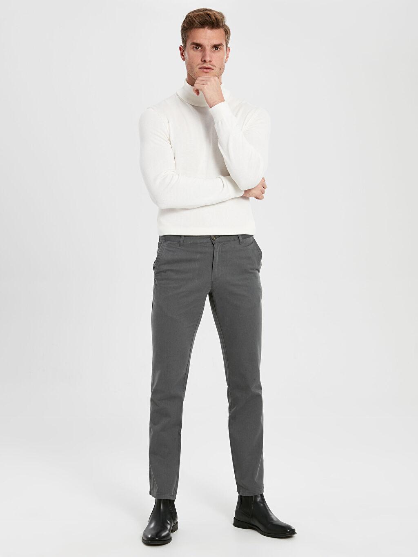%100 Pamuk Gabardin Chino Pantolon Standart %100 Pamuk Normal Kalıp Gabardin Chino Pantolon