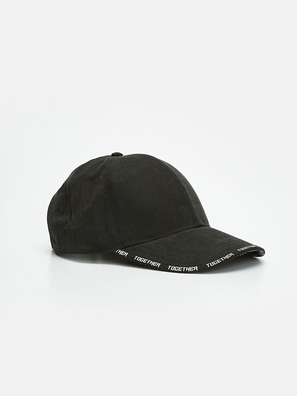 Siyah Yazı Baskılı Şapka 9W1682Z8 LC Waikiki