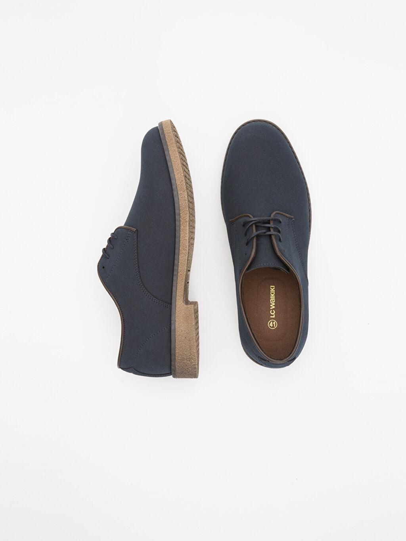 Diğer malzeme (pvc) Penye Astar Klasik Ayakkabı Standart Bağcık Günlük Düz Erkek Klasik Derby Ayakkabı