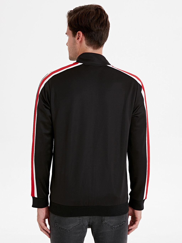 %100 Polyester Düz Standart Diğer Sweatshirt Standart Regular Fit Dik Yaka Hırka