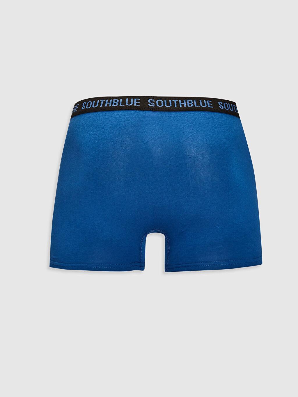 %95 Pamuk %5 Elastan Boxer Süprem Standart Standart Kalıp Esnek Kumaş Boxer 3'lü