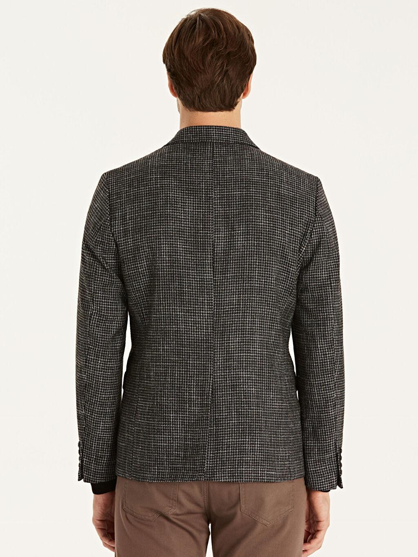 %3 Pamuk %48 Poliester %16 Yün %12 Akrilik %21 Viskoz %100 Polyester Blazer Ceket Astarlı Baskılı Dar Dar Kalıp Blazer Ceket