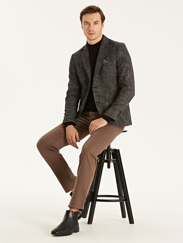 Erkek Dar Kalıp Blazer Ceket