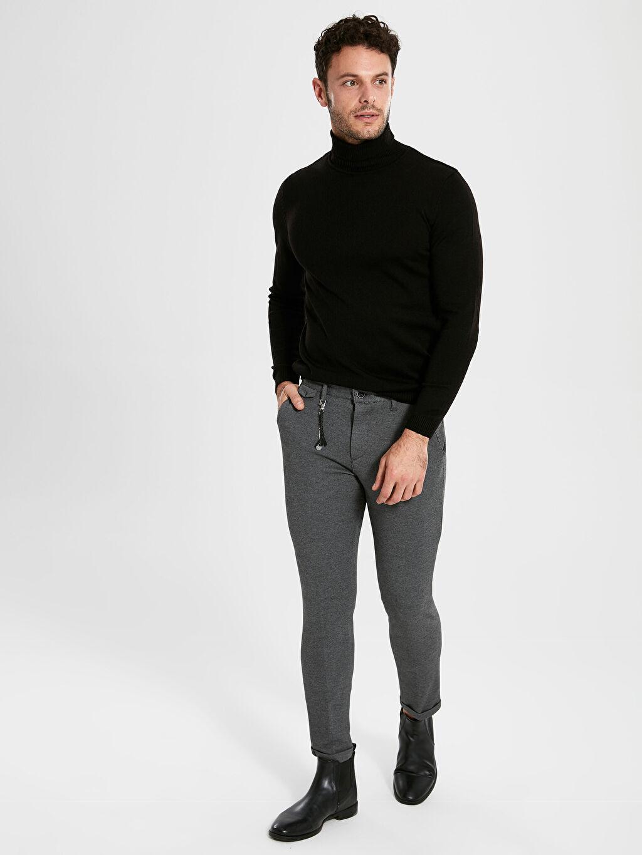 Gri Slim Fit Bilek Boy Pantolon 9W7406Z8 LC Waikiki