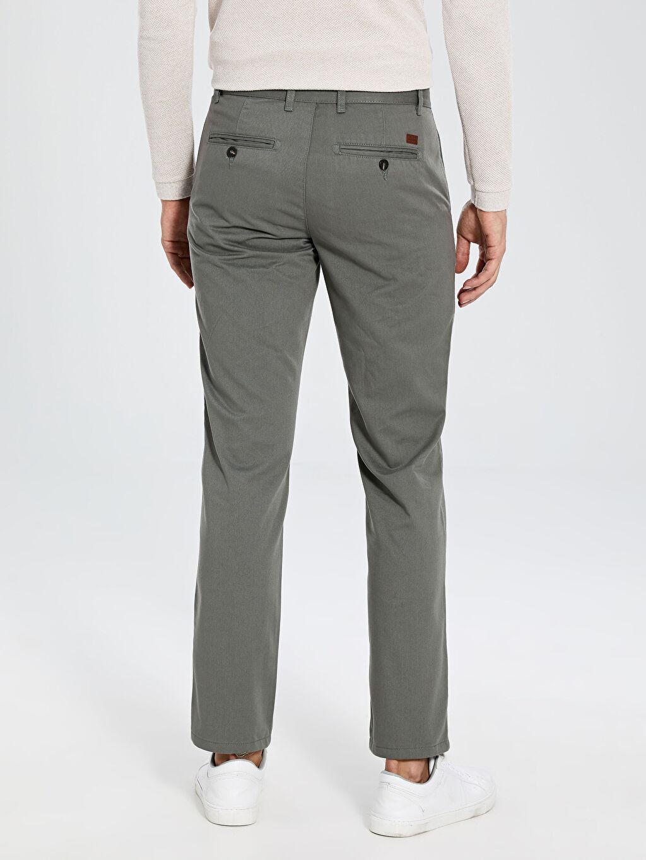 %33 Pamuk %67 Polyester Normal Kalıp Chino Pantolon