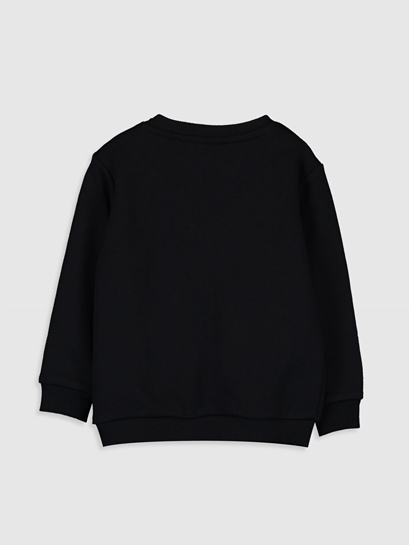 %67 Pamuk %33 Polyester Sweatshirt Düz Bisiklet Yaka Aile koleksiyonu Erkek Bebek Yazı Baskılı Sweatshirt