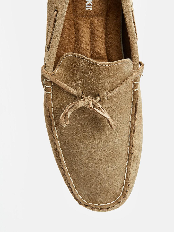 LC Waikiki Bej Erkek Hakiki Deri Loafer Ayakkabı