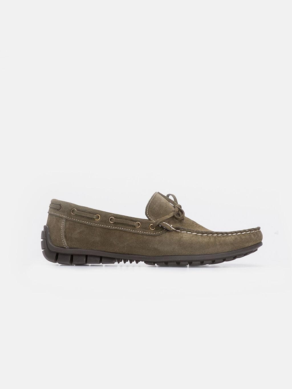 Haki Erkek Hakiki Deri Loafer Ayakkabı 9WK022Z8 LC Waikiki