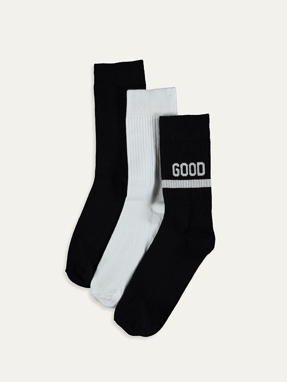 Siyah Soket Çorap 3'lü 9WK979Z8 LC Waikiki