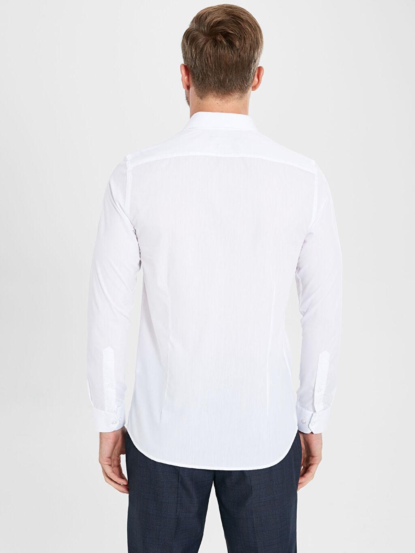 Erkek Slim Fit Basic Uzun Kollu Gömlek