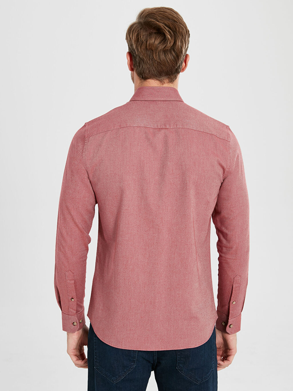 Erkek Slim Fit Uzun Kollu Gabardin Gömlek