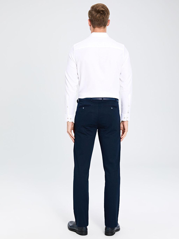 Erkek Standart Kalıp Armürlü Pantolon