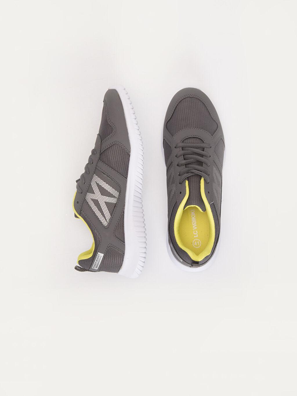 Tekstil malzemeleri Diğer malzeme (pvc) Penye Astar Standart Bağcık Aktif Spor Ayakkabı Günlük Renk Bloğu Hafızalı Sünger Erkek Bağcıklı Günlük Spor Ayakkabı