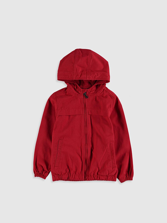 Kırmızı Erkek Çocuk Kapüşonlu Pamuklu Mont 9WO866Z8 LC Waikiki