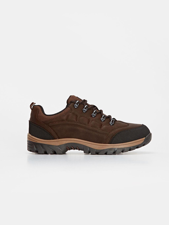 Kahverengi Erkek Bağcıklı Trekking Ayakkabı 9WP156Z8 LC Waikiki