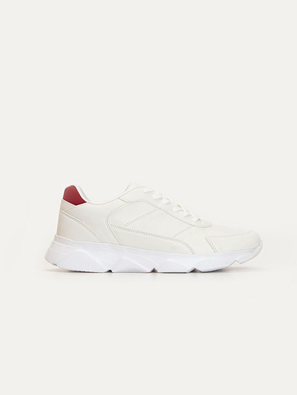 Beyaz Erkek Bağcıklı Günlük Spor Ayakkabı 9WQ901Z8 LC Waikiki