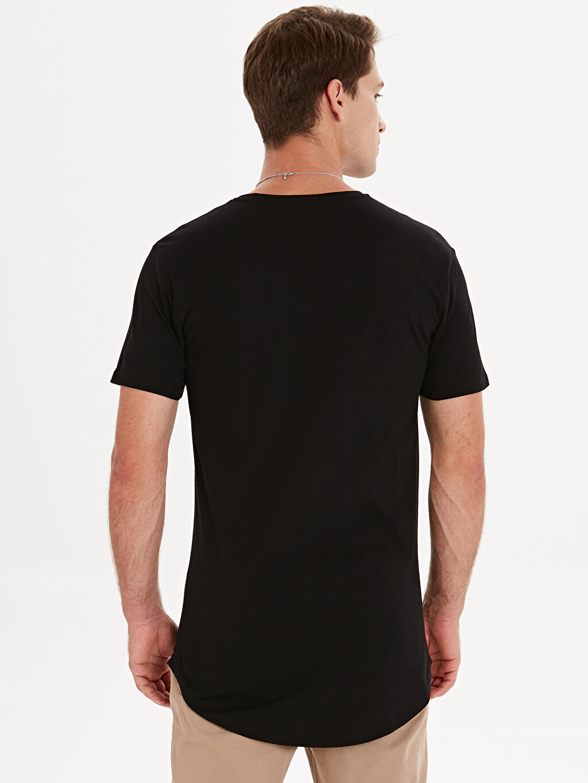 Erkek Bisiklet Yaka Uzun Basic Pamuklu Tişört