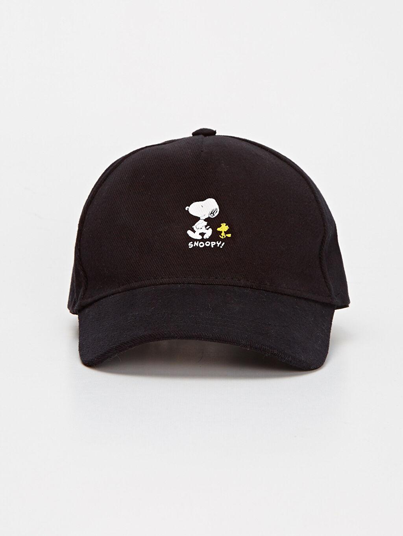%100 Pamuk %100 Pamuk Kep Şapka Düz Snoopy Baskılı Şapka