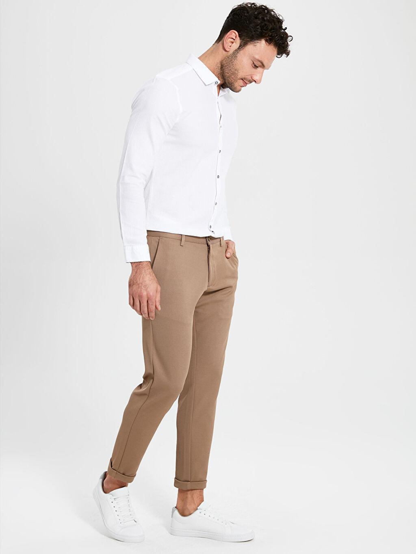 Bej Slim Fit Armüllü Pantolon 9WS203Z8 LC Waikiki